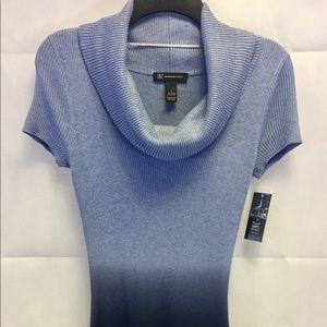 INC Light Blue, Dark Blue Sweater Dress New